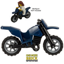 LEGO Motorbike Dirt Bike motorcycle - Dark Blue moterbike - New