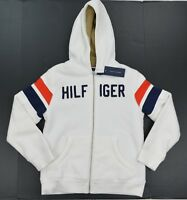 NWT Boy's  Tommy Hilfiger Sweater Hoodie Hooded Sweatshirt White XS S  M L