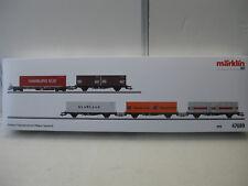 MÄRKLIN 47689 Container Tragwagenset Epoche IV  5 Wagen NEU