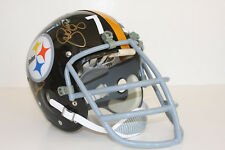 Vintage Football Helmet STEELERS Signed Greene, Holmes, Greenwood, White CURTAIN