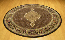 5 x 5 Hand Knotted Wool & Silk PakTabriz Round Rug . Beautiful Colors & Design