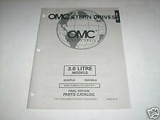 OMC Cobra Stern Drives 3.0 L Parts Catalog 1997