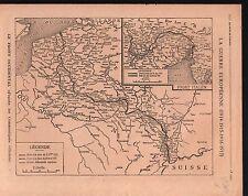 WWI Map Carte France Italy Belgique Serbia Bulgaria Turkey 1917 ILLUSTRATION