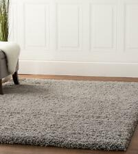 Super Area Rugs Contemporary Modern Plush Shag Solid Area Rug in Gray