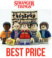 Customised Stranger Things Netflix Pack of 5 Mini figures Fits With Blocks