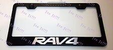 Toyota RAV4 RAV 4 Stainless Steel Black License Plate Frame Rust Free W/ Caps