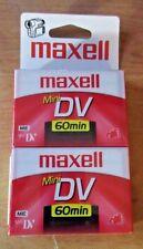 2 Maxell Mini Dv 60 Min Blank Tapes