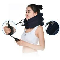 VS2# Air Inflatable Pillow Cervical Neck Head Pain Traction Support (sapphire)
