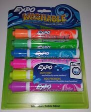 EXPO Washable Dry Erase Marker Bullet Tip Assorted Pack of 6 Bullet Tip