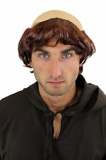 Halloween Carnival Fancy Dress Outfit Wig Medieval Monk Tonsure Priest 739-P33