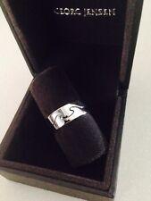 Georg Jensen Fusion white gold ring 2 piece size 53