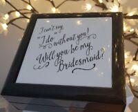 '**Will you be my bridesmaid?' gift box wedding bride groom**