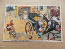 Fry's Cocoa Advert Children Horse & Buggy Old Unposted Postcard d