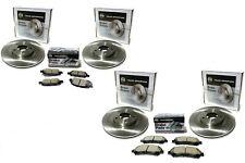 2013 Nissan Rogue Two Front & Rear Rotors w/ Front & Rear Brake Pad Kits