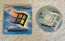 MICROSOFT WINDOWS 98 FULL RETAIL INSTALLION CD w/ BOOT FLOPPY & PRODUCT KEY -NEW