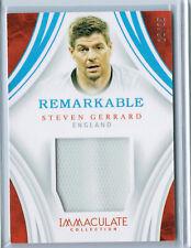 2018-19 Immaculate Remarkable STEVEN GERRARD England Patch #28/35 Jersey
