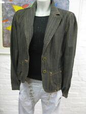 EDC ESPRIT schöner Jeans Blazer Jacke Gr.L-40,Graphit m.Orange gestreift,Langarm