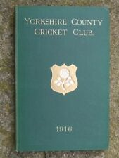 Yorkshire County Cricket Club Yearbook.  1916.