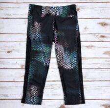 ONZIE FLOW CREE TUXEDO CAPRI MULTI SNAKE PRINT ATHLETIC LEGGING PANT ~MULTI ~ XS