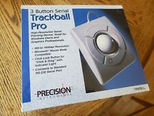 Vintage Trackball Pro Precision Instruments 3-Button Serial Computer Mouse New