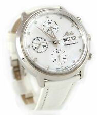 MIDO 8885 Commander Ocean Star Chronograph Ladies Watch MOP Diamond Dial XLNT