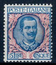 REGNO D' ITALIA 1901 FLOREALE 5 LIRE N. 78 G.I** - 42