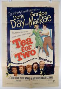 TEA FOR TWO 1950 ORIGINAL MOVIE POSTER - DORIS DAY - GORDON MACRAE - S.Z. SAKALL