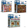 3 x 1000 Piece Jigsaw Puzzles Crown YE Old Shoppe + Candy Store + Cake Shop