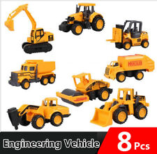 8PCS Kids Diecast Mini Construction Truck Car Toy Digger Excavator Xmas Gifts