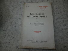 1915.Les leçons du livre jaune.14-18.Welschinger