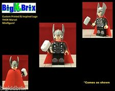 THOR Custom Printed & Inspired Lego Marvel Avengers Minifigure with Gear!!