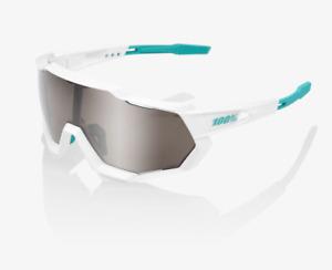 100% Speedtrap SE BORA - hansgrohe Team White Cycling Sunglasses - Silver Mirror