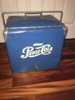 Vintage Metal Pepsi Cooler with Tray and Plug
