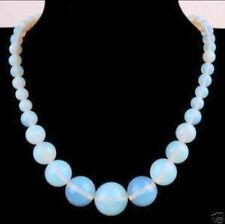 "Beautiful 6-14mm Opal Round Gemstone Beads Necklace 18"" AA"