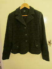 Hobbs Black & Grey Spot Wool Blazer / Jacket in Size 12