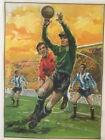 Original Vintage 1963 Soccer Goalie Poster Linen Backed