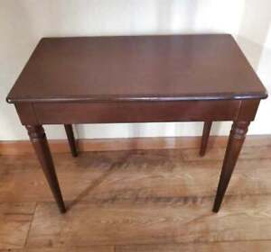 Vintage Piano Bench Solid Mahogany Carved Legs 26x14.5x22