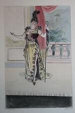Eau-forte aquarelle pochoir La Femme à Paris Pierre Vidal Fred. Massé Uzanne 8