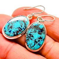 "Shattuckite 925 Sterling Silver Earrings 1 1/2"" Ana Co Jewelry E409770F"