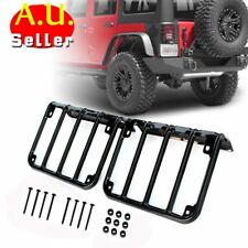 Tail Light Guards Cover Rear Lamps Trim Cover For 2007-2016 Jeep Wrangler JK AU
