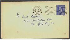 CANADA, Postcard 1953 5c envelope to New York, fine (D)