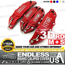 Metal 3D ENDLESS Universal Style Brake Caliper Cover front&rear 4pcs Red LW01