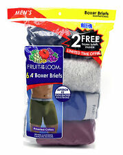 6 Blue Gray Red Large L 38-40 Inch Boxer Briefs Fruit Of The Loom G 97-102 CM