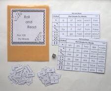 Teacher Made Literacy Center Resource Game First 100 Fry Words Roll & Read