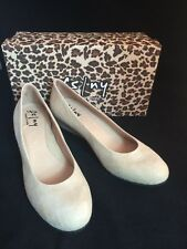 Womens FS/NY French Sole Bone Beige Cartizze Gumdrop Wedge Pumps Sz 11 $188