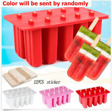 1 Set Frozen Ice Cream Pop Mold Maker Popcicle Lolly Mould Ice Tray +12 Sticks