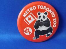 METRO TORONTO ZOO PANDA CANADA FLAG VINTAGE BUTTON ADVERTISING PIN BACK