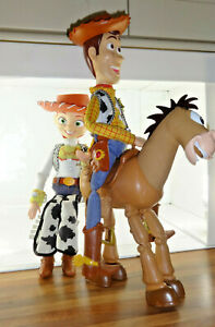 Disney Toy Story Woody Jess ThinkWay Talking Pullstring Figures Bullseye Mattel