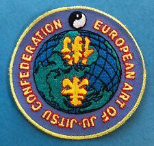 Vintage European Art Of Ju Jitsu Confederation Martial Arts Mma Gi Patch 589