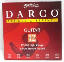 Martin Darco Acoustic Guitar Strings D5500 Light Gauge 80-20 Bronze Wound Light